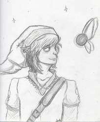 The Legend of Zelda: Link Sketch by Amara-Rose