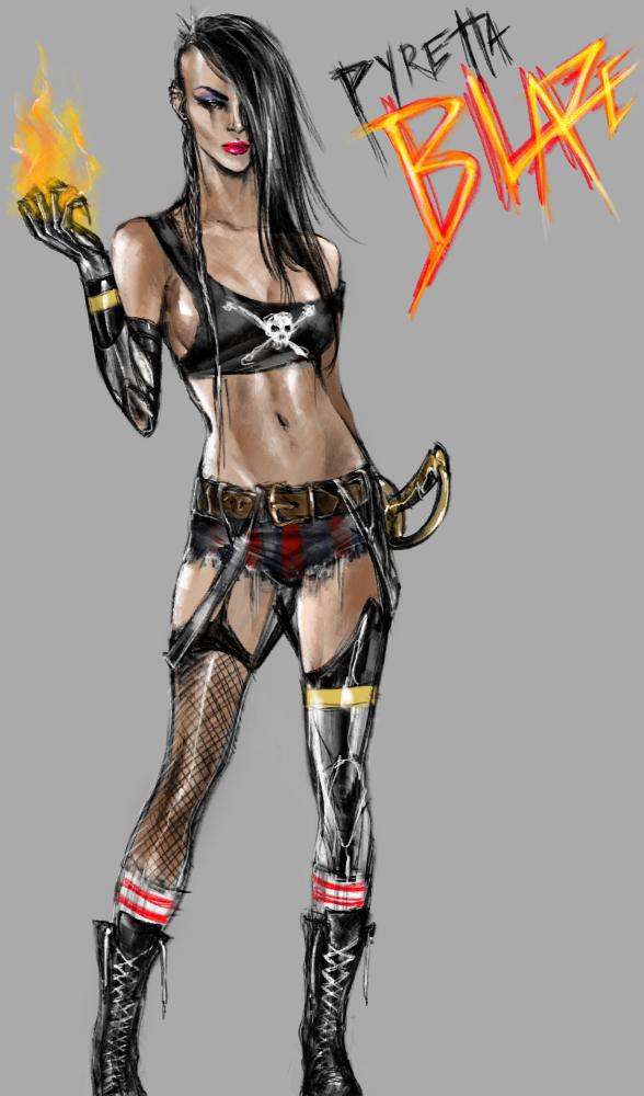 Pyretta Blaze: The 8th Evil X by MikiValentine