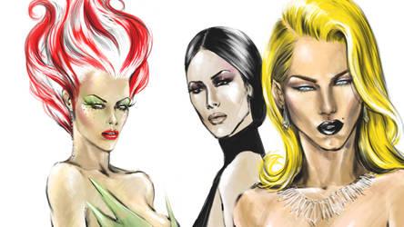 Three Vixens by MikiValentine