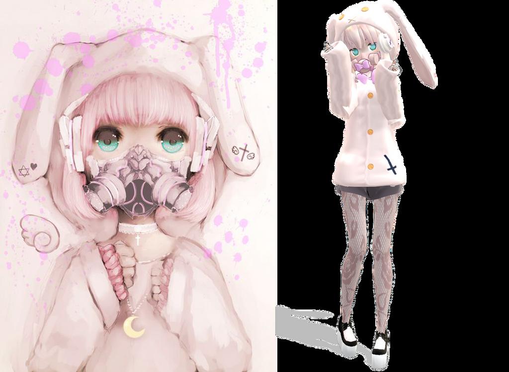Mmd Bunny Pastel Goth By Ameschka On Deviantart