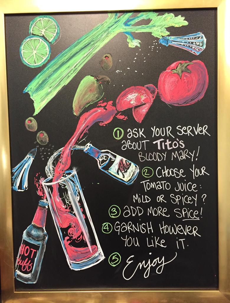 Bloody Mary Bar Chalkboard by Wrenatus