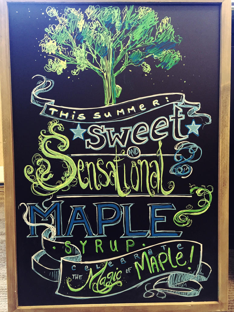 Magic of Maple Chalkboard by Wrenatus