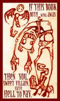 Bookplate v.1 by ZombieKate