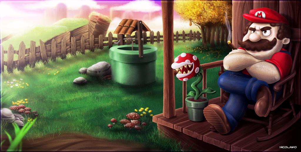 Badass Mario by Nicolaiko