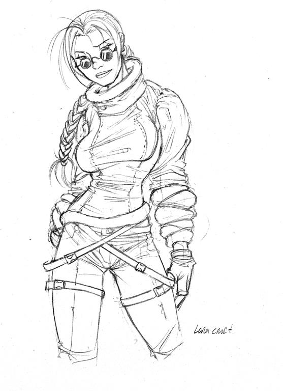 lara croft by valhein - Lara Croft Coloring Pages