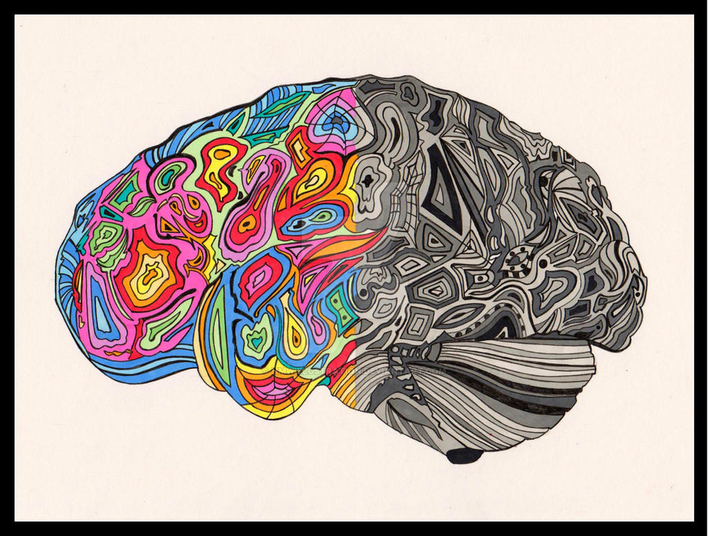 The autistic brain by hmwillustration