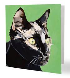 Cat greetings card 2