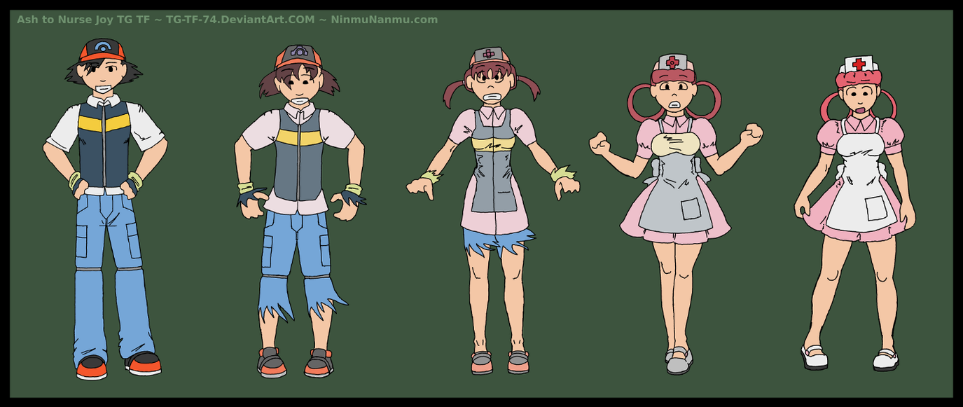 Ash to Nurse Joy TG TF Commish by JohnColburn