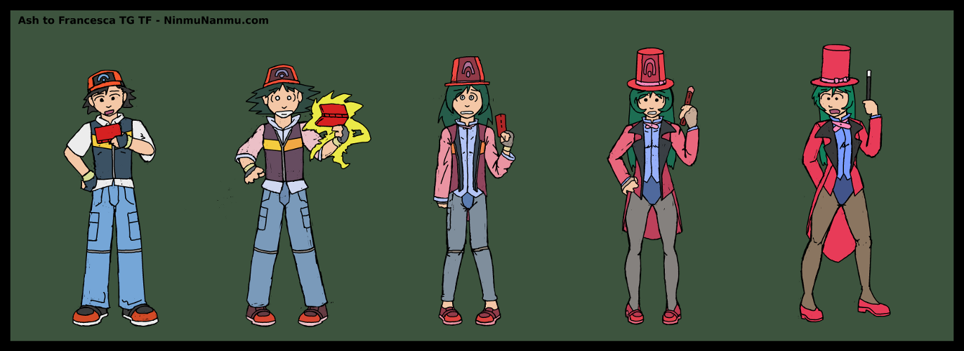 Ash to Francesca TG TF Commish by JohnColburn