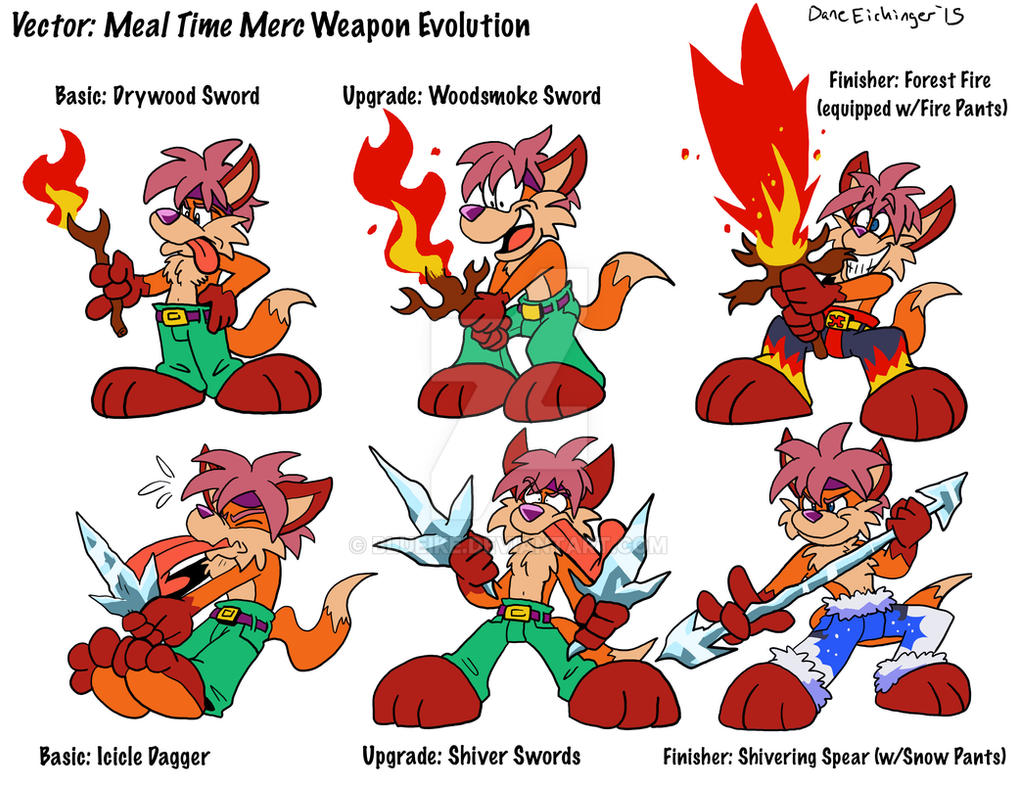 Vector: Weapon Evolution chart by BlueIke on DeviantArt