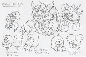 DZX: Mallowmon and Smoremon by BlueIke