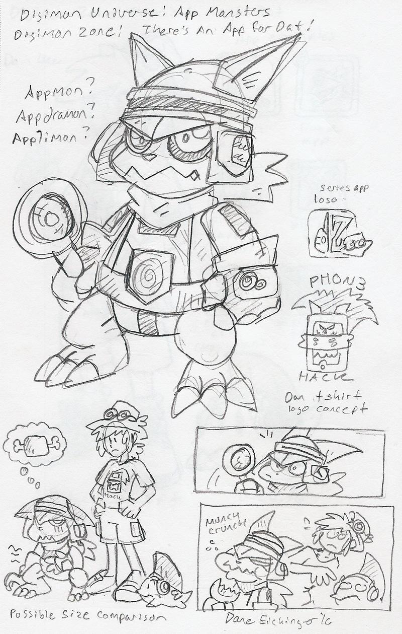 Dz Digimon Universe App Monsters New Digimon By Blueike On Deviantart