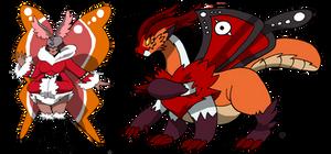Commish: Moth Digimon Line 2