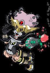 Commish: DarkKnightmon + Vademon = GunGear