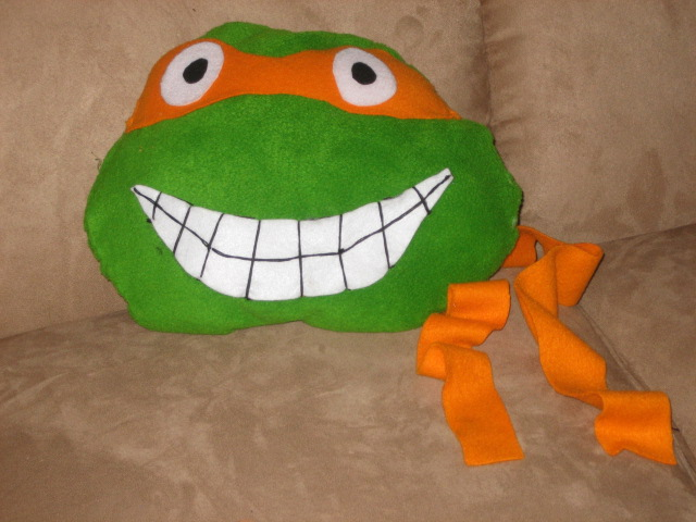 Ninja Turtle Decorative Pillow : Image Gallery ninja turtle pillow