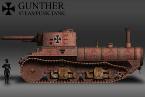 Gunther (No.1739) Steampunk Tank by KevinTinierme
