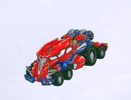 Alt mode of BFTE optimus prime by kishiaku