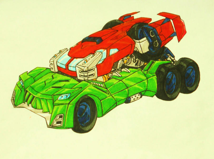 BFTE TWINS combined alt mode by kishiaku