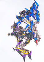 thundercracker and skywarp: brothers in arms? by kishiaku