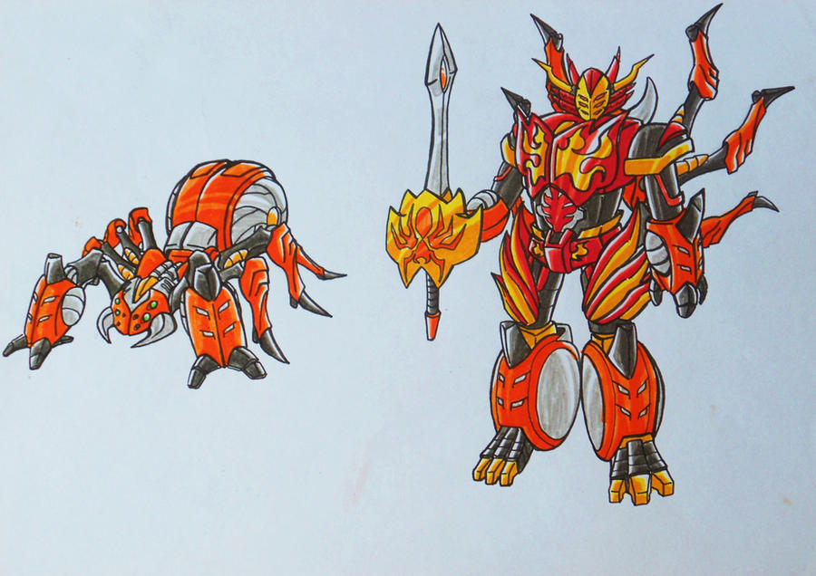 ONIRANGERS part 2: oni spider armament by kishiaku