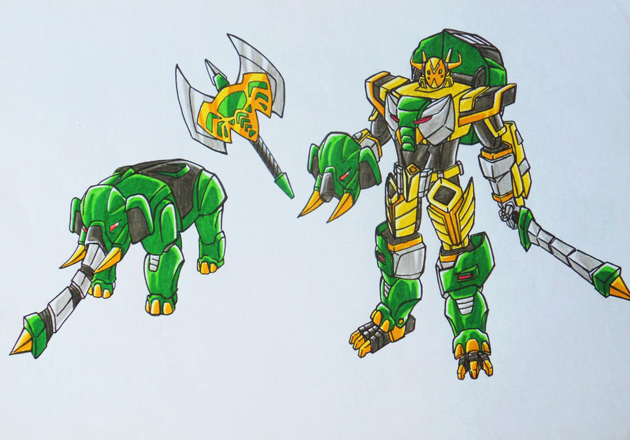 ONIRANGERS part 2: oni elephant armament by kishiaku