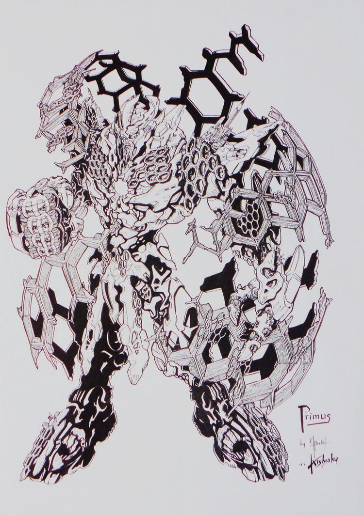BFTE PRIMUS... cybertronian god inked! by kishiaku