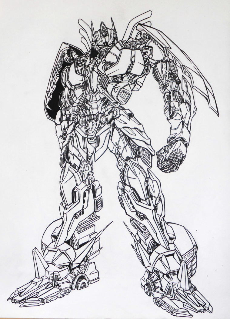 Transformers decepticons coloring pages coloring pages - Optimus Coloring Pages Very Attractive Coloring Pages Of Trucks Aoe_prime_inking_by_kishiaku