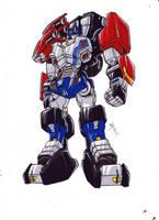 Optimus Robot version 1 from TFCyb by kishiaku