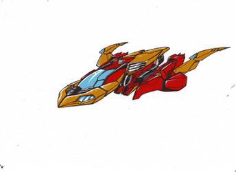 Trial for rodimus... Stellar phoenix!!! by kishiaku