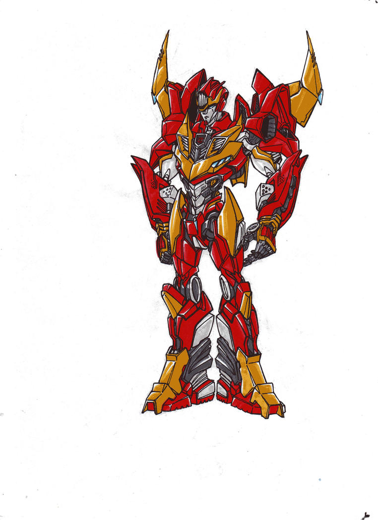 Rodimus trial in robotform by kishiaku