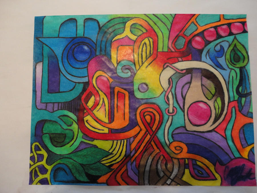 abstract colored pencil drawing by caseybeck on deviantart