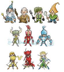 Character concepts by AustinAlander