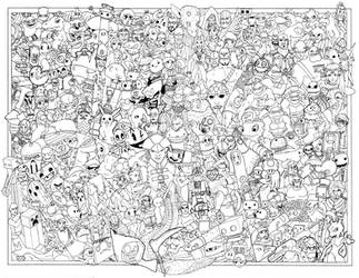 Gaming Themed Coloring Poster by AustinAlander