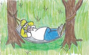 Homer in A Hammock