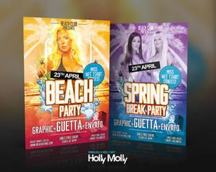 Spring Break / Beach Party Flyer by imagingdc