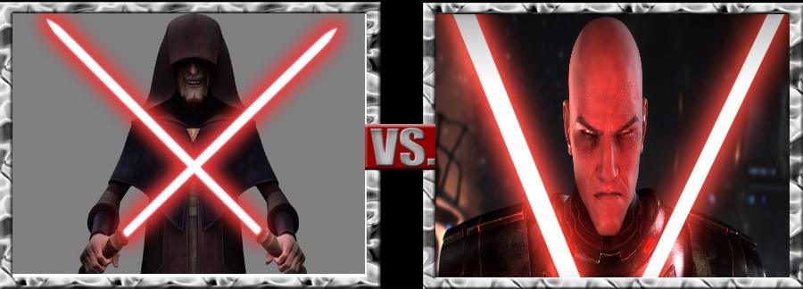 Versus Series-Darth Sidious vs. Malgus by SSJ4Truntanks