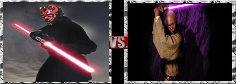 Vs. Series-Darth Maul vs. Mace Windu by SSJ4Truntanks
