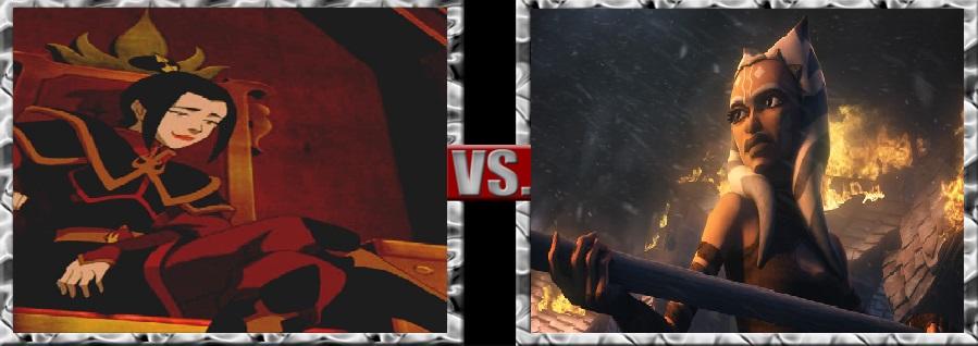 Death Battle-Azula vs. Ahsoka Tano by SSJ4Truntanks