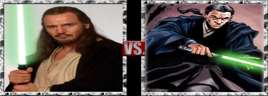 Vs. Series-Qui-Gon Jinn vs. Tholme by SSJ4Truntanks