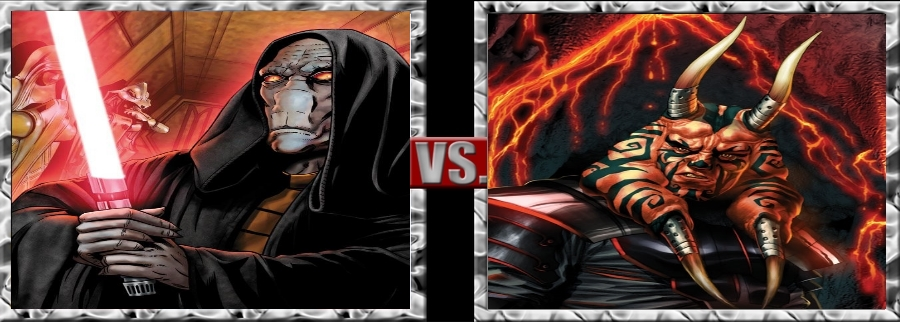 Vs. Series-Darth Plagueis vs. Dark Wyyrlok III by SSJ4Truntanks