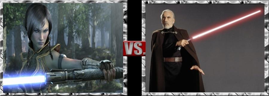 Vs. Series-Satele Shan vs. Count DookuDarth Tyranu by SSJ4Truntanks