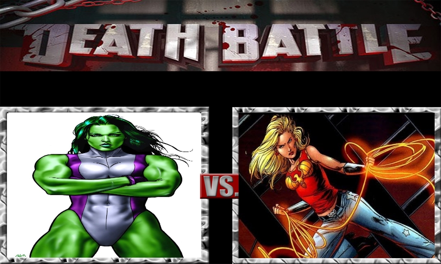 Death Battle-She-Hulk vs. Wonder Girl by SSJ4Truntanks