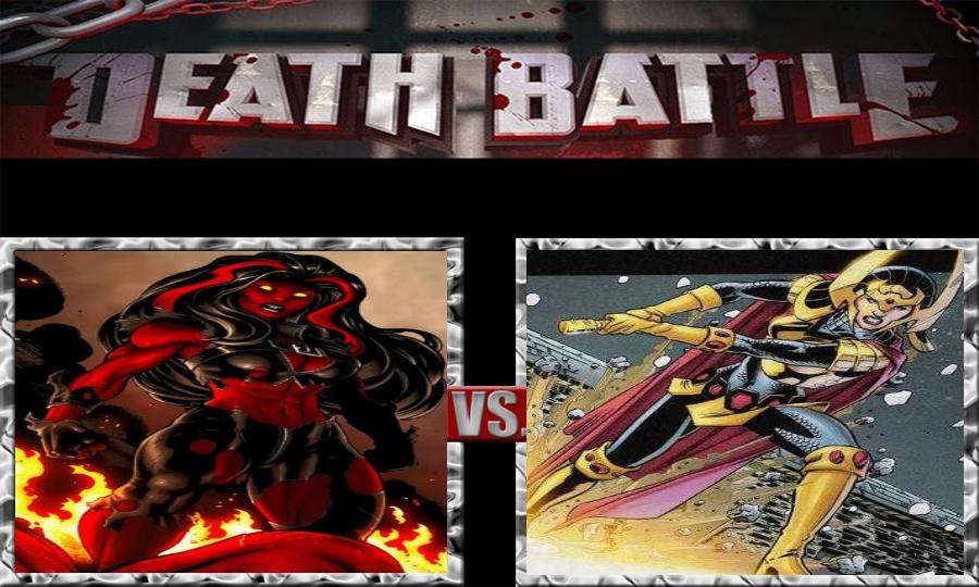 Death Battle-Red She-Hulk vs. Big Barda by SSJ4Truntanks