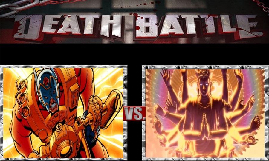 Death Battle-Orion vs. Chakravartin by SSJ4Truntanks