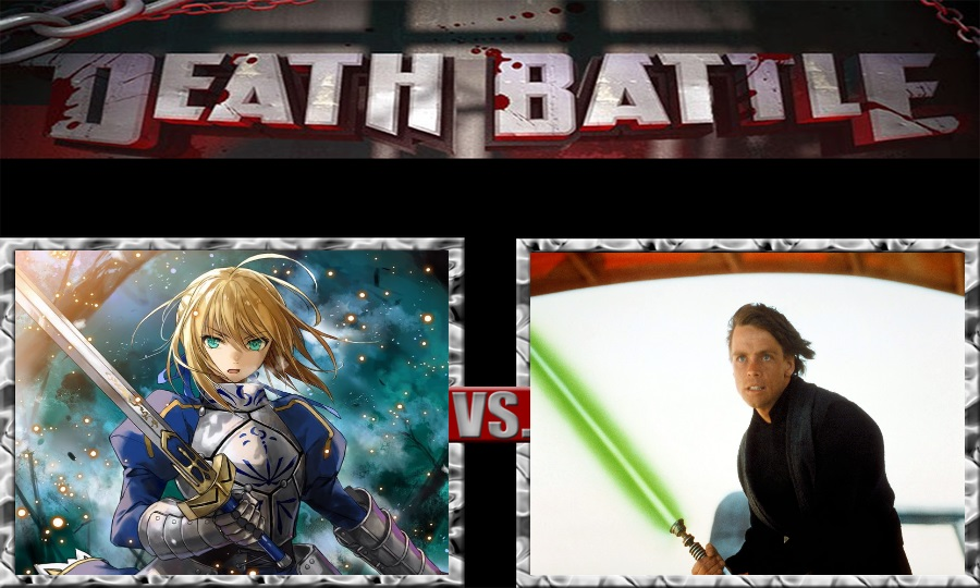 Death Battle-Saber vs. Luke Skywalker by SSJ4Truntanks