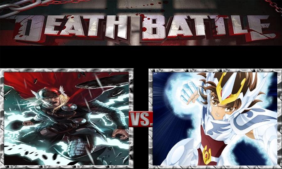 Death Battle-Thor vs. Pegasus Seiya by SSJ4Truntanks