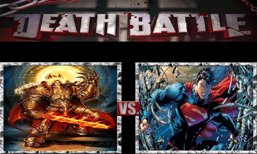 Death Battle-God Emperor Of Mankind vs. Superman by SSJ4Truntanks