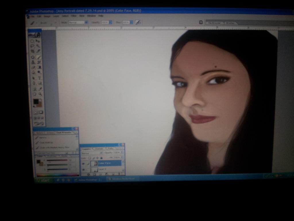 Self portrait by ladycalledamy