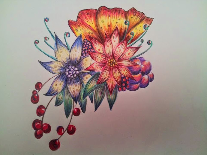 Color pencil flower Amy by ladycalledamy