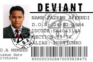 Deviant ID CARD by mortichro